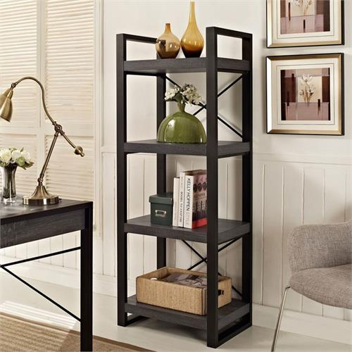 View a larger image of the Walker Edison W62CGMTCL Angelo Home City Grove Media Storage Tower in Charcoal.