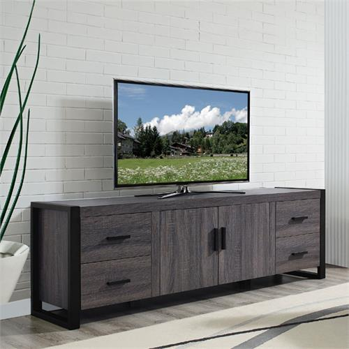 View a large image of the Walker Edison Urban Blend 70 inch TV Console Charcoal W70UBC22CL here.