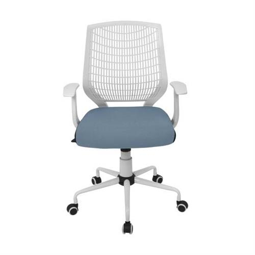 View a larger image of LumiSource Network Office Chair (White and Blue) OFC-NET W+SMBU.