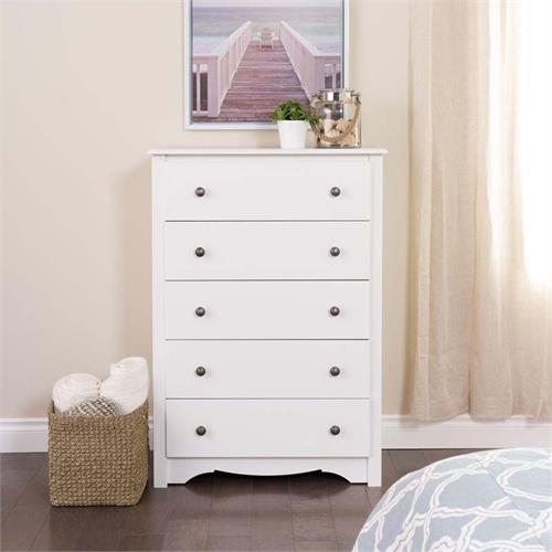 View a larger image of Prepac Monterey Collection 5-Drawer Chest (White) WDC-3345-K.