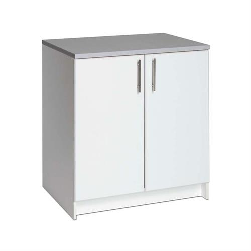 View a larger image of the Prepac Elite Collection 2 Door Storage Unit Base for Garage or Laundry Room (White) WEB-3236.