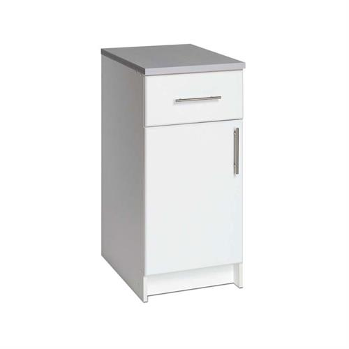 View a larger image of the Prepac Elite Collection 1 Door Storage Unit Base for Garage or Laundry Room (White) WED-1636.