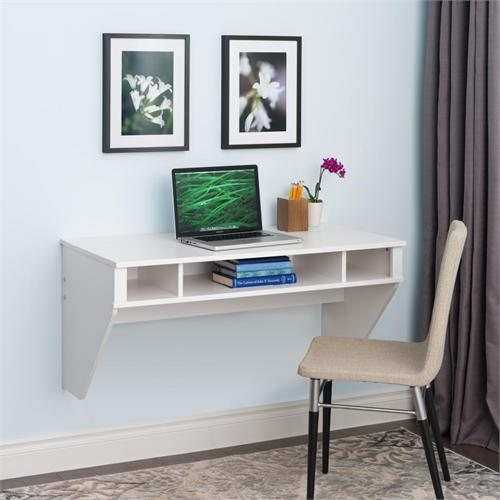 View a large image of the Prepac Designer Wall Mounted Floating Desk White WEHW-0500-1 here.