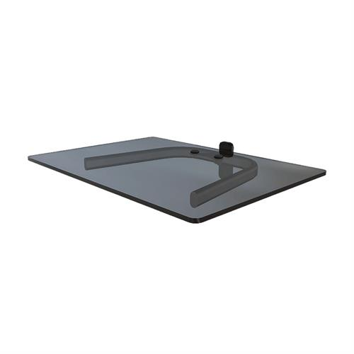 View a large image of the Crimson Single Wall Mounted Component Shelf Black with Black Glass WF1 here.