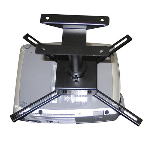 View a large image of the H. Wilson Universal 6 inch Fixed Height Projector Mount Black WFLCDM here.