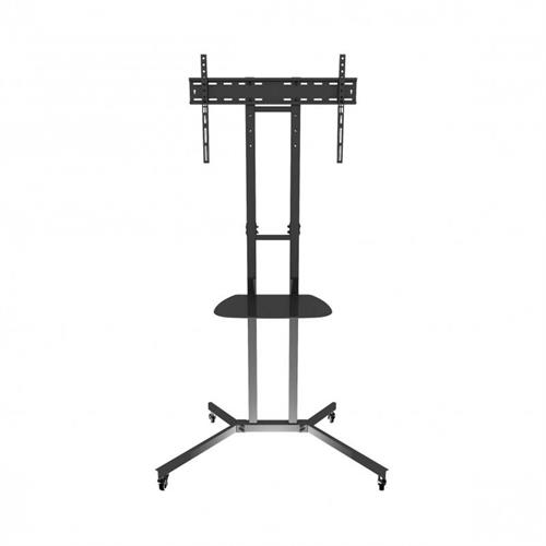 View a large image of the AVF Mobile Pedestal Stand 32 to 60 inch TV Cart Black WFSL500-A here.