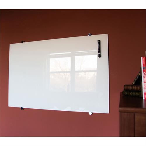 View a larger image of the Luxor Wall Mounted Magnetic Glass Board (60x40) WGB6040M.