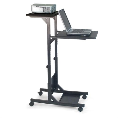 View a larger image of the H. Wilson Mobile Laptop Presentation Cart (Black) WPS3.