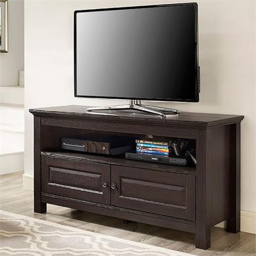 View a large image of the Walker Edison 44 inch Wood TV Console Espresso WQ44CSES here.