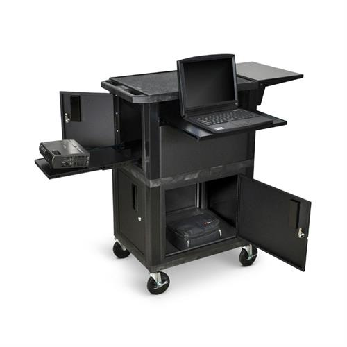 View a larger image of the Luxor 41 inch Ultimate Presentation Station with Cabinets WTPSCE.