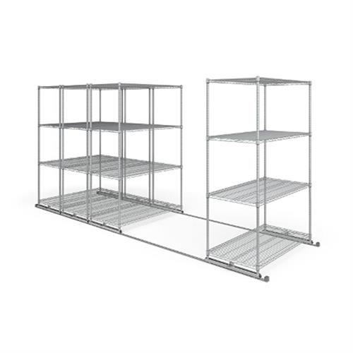 View a large image of the OFM X5L4-4824-SLVR X5 Lite Sliding Storage System Four 4-Shelf Units 48x24 here.