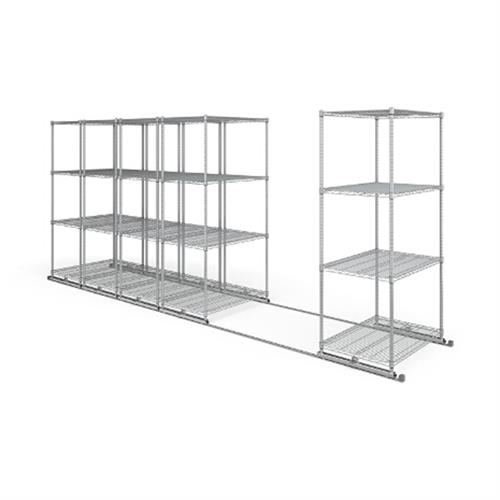 View a large image of the OFM X5L5-3624-SLVR X5 Lite Sliding Storage System Five 4-Shelf Units 36x24 here.