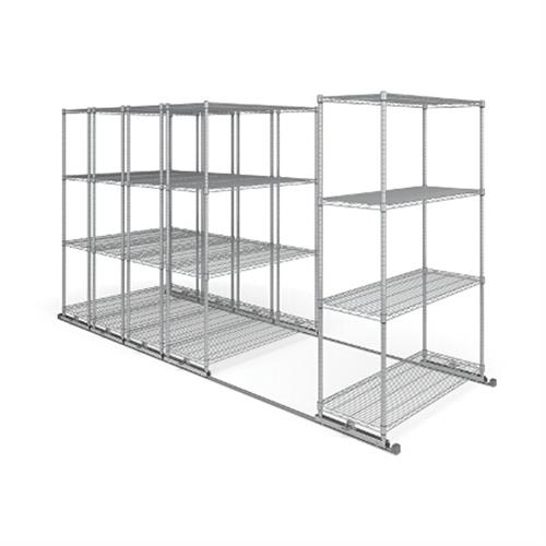 View a large image of the OFM X5L5-4818-SLVR X5 Lite Sliding Storage System Five 4-Shelf Units 48x18 here.