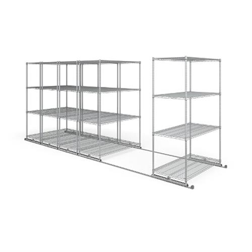 View a large image of the OFM X5L5-4824-SLVR X5 Lite Sliding Storage System Five 4-Shelf Units 48x24 here.