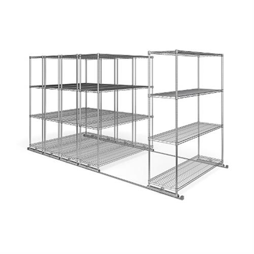 View a large image of the OFM X5S1860 X5 Sliding Storage System Five 4-Shelf Units 18x60 here.
