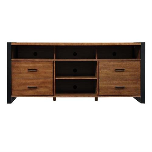 View a large image of the Bello Solid Wood 70 in. TV Console Old World Birch TC6350005Z380 here.
