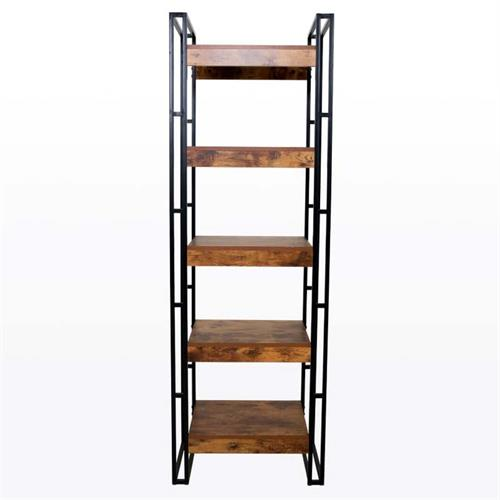 View a large image of the Living Essentials Urban Line 5 Tier Accent Shelf Rustic Wood ULWRW0873 here.