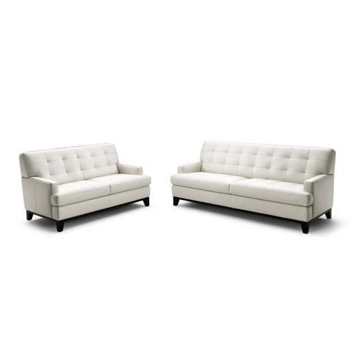 View a large image of the Wholesale Interiors Adair Leather Loveseat and Sofa Set White 1287-8143 here.