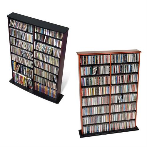 View a large image of the Prepac Double CD DVD VHS Tower Black or Cherry MA-0640 here.