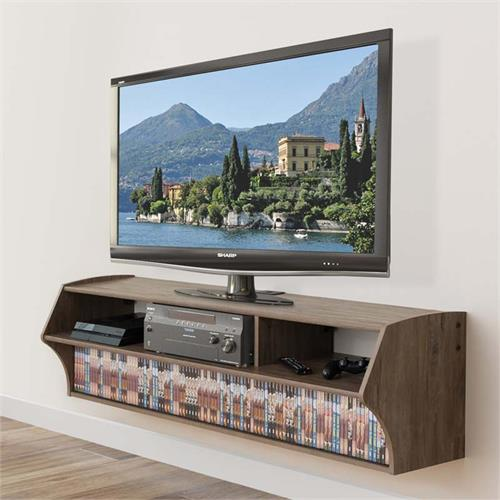 View a larger image of the Prepac Altus Plus Wall Mounted 60 inch TV Console (Grey) DCAW-0208-1 here.