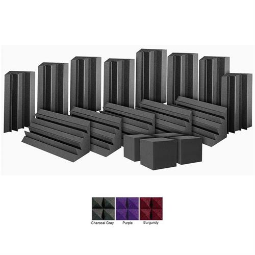 View a large image of the Auralex Acoustics ATOM12 Bass Trap System with Cornerfill Cubes Charcoal ATOM12CHA here.