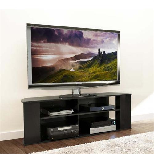 View a large image of the Prepac Essentials Collection 60 inch TV Stand with Side Storage Black BCTG-1101-1 here.