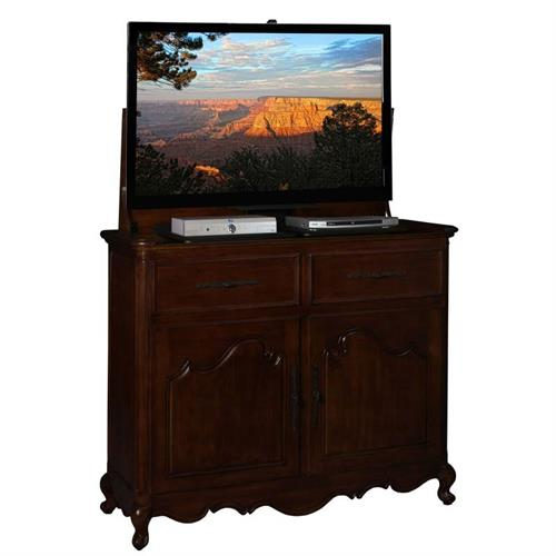 View a large image of the TV Lift Cabinet Belle Lift for 32-46 inch Screens Rich Brown AT006332RB here.
