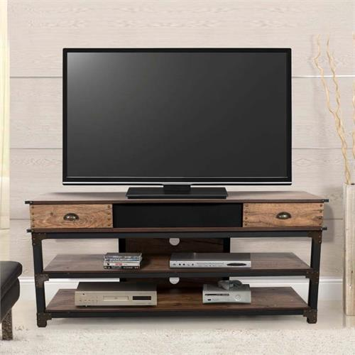 View a large image of the Living Essentials Calexico 65 in. TV Stand with Installed Speaker SSWIR0160 here.