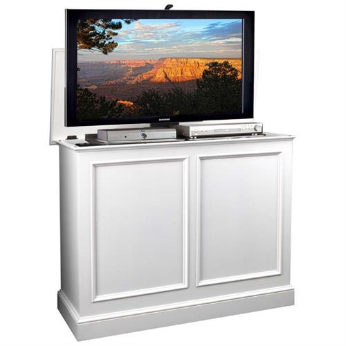 View a large image of the TV Lift Cabinet Carousel Series Lift for 32 to 46 inch Screens White AT006196-WHT here.