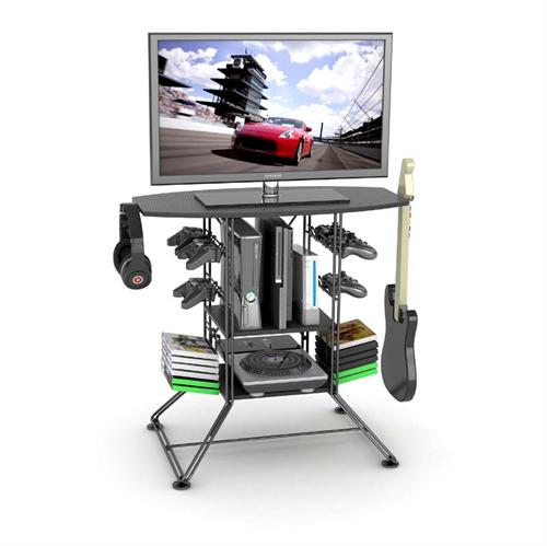 View a large image of the Atlantic Centipede Gaming Storage TV Stand Black 45535800 here.