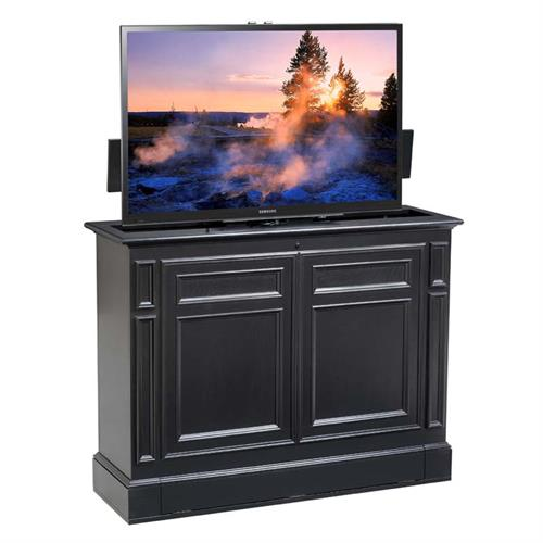 View a large image of the TV Lift Cabinet Chatham Series 360 Swivel Lift for 36 to 55 inch Screens Black AT006612BLK here.