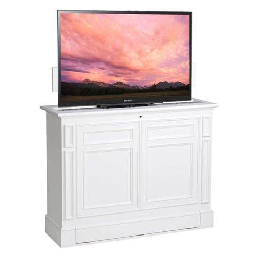 View a large image of the TV Lift Cabinet Chatham Series 360 Swivel Lift for 36 to 55 inch Screens White AT006612WHT here.