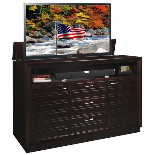 View a large image of the TV Lift Cabinet Concord XL TV Lift for 65 to 75 inch Screens Espresso AT006502 here.