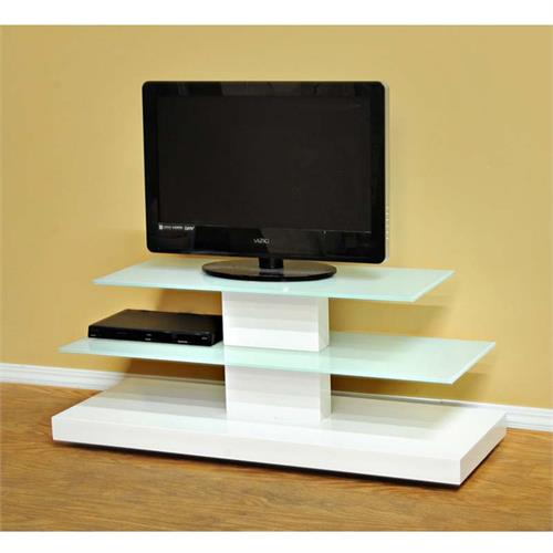 Design 2 Fit Frosted Glass 50 Inch Tv Stand White D2f 208