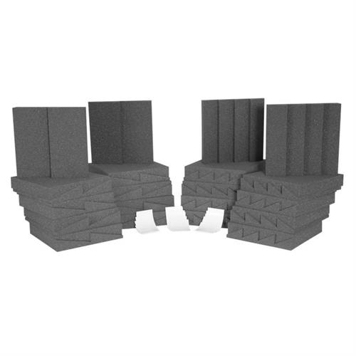 View a large image of the Auralex Acoustics Designer Series Roominators Sound Control Kit Charcoal D36CHA here.