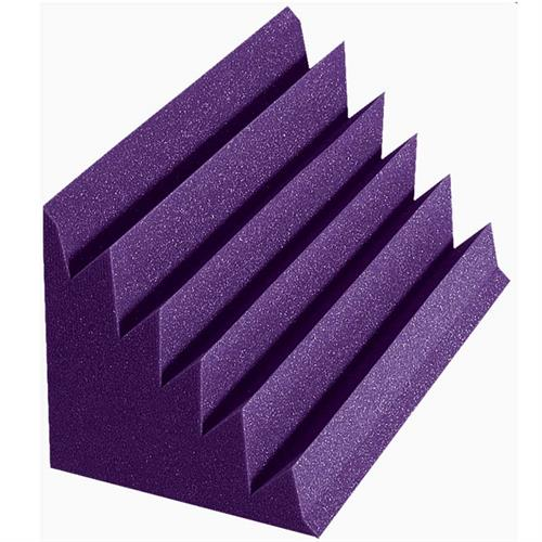 View a large image of the Auralex Acoustics Designer Series Triangular LENRD Bass Traps Purple pack of 8 DSTLENPUR here.