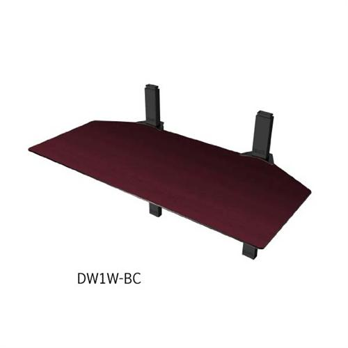 View a large image of the Cambre Sky Shelf Double-Wide Wood Wall-Mounted Component Shelf Cherry-Espresso DW1W-BC here.