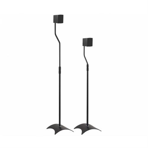 View a large image of the AVF Pair of Universal Surround Sound Speaker Stands Black EAK80B-A here.