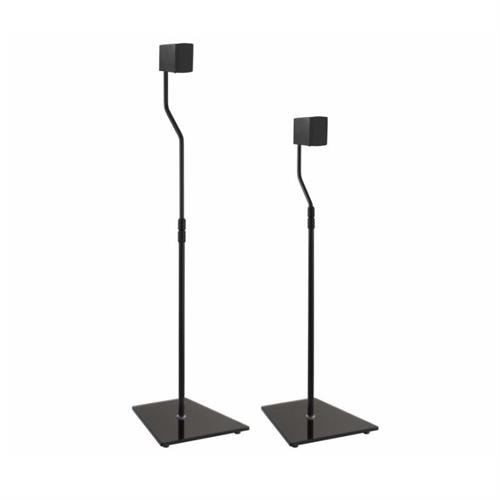 View a large image of the AVF Pair of Universal Black Glass Speaker Stands Black EAK85B-A here.