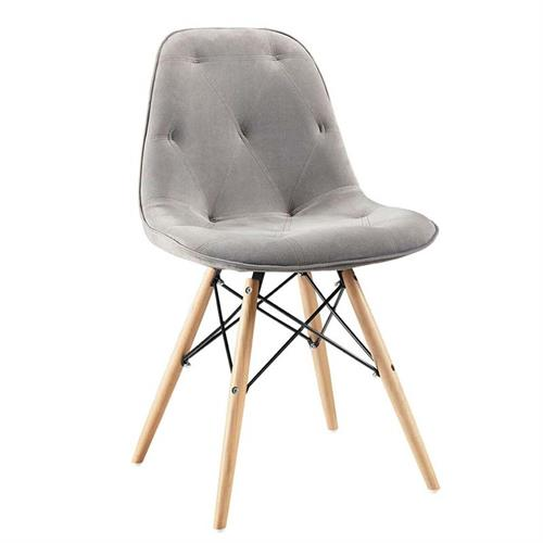 View a large image of the Walker Edison Eames Upholstered Dining Chairs Grey set of 2 CH18UGY here.