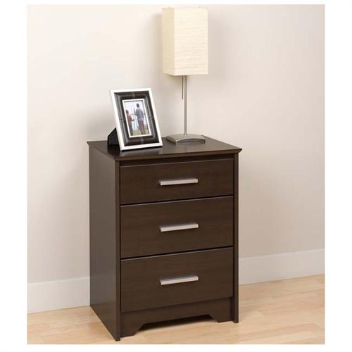 View a large image of the Prepac Coal Harbor Tall 3 Drawer Night Stand Espresso ECH-2027 here.