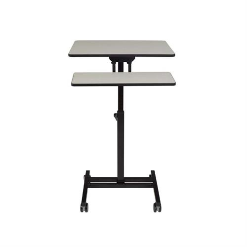 View a large image of the Oklahoma Sound EduTouch Sit and Stand Cart (Black and Grey) EDTC