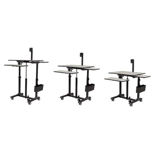 View a large image of the Oklahoma Sound EduTouch PRO Sit and Stand Desk (Black and Grey) EDTCP here.