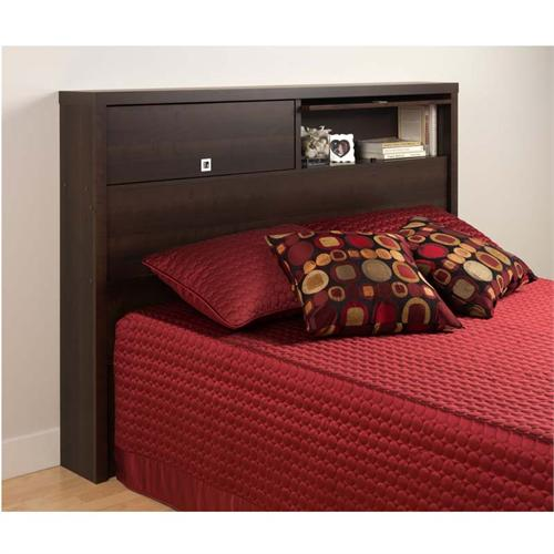 View a larger image of the Prepac Series 9 Designer Full/Queen Size 2 Door Headboard (Espresso) EHFX-0502-1.