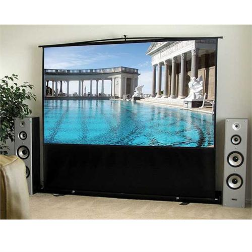 View a large image of the Elite Screens ezCinema Series 16:9 Telescoping Floor Stand Projector Screen ezCinema-HDTV-F here.