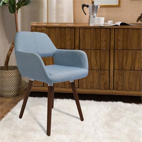 View a large image of the Living Essentials Fremont Modern Accent Chair (Light Blue) ACFSB0542 here.