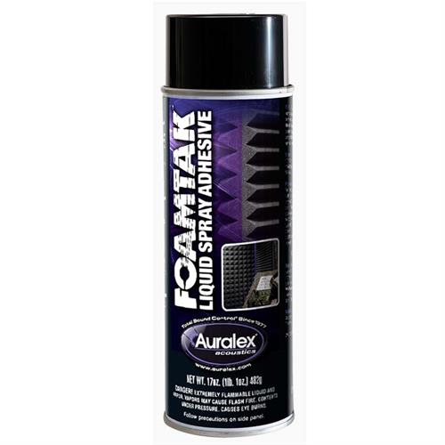 View a large image of the Auralex Foamtak Acoustic Spray Adhesive for Sound Absorbers 1 can FTSPRAY here.