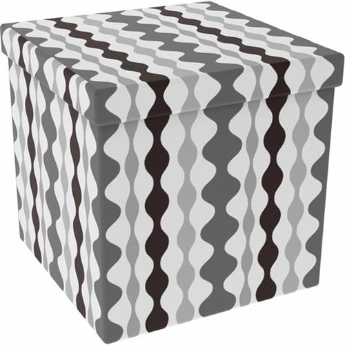 View a large image of the Atlantic 15x15 inch Collapsible Ottoman in Lava Shades of Gray Set of 2 67335933 here.