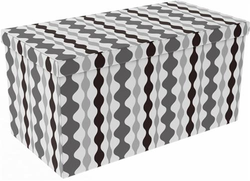 View a larger image of the Atlantic 15x30 inch Collapsible Ottoman in Lava Shades of Gray (Set of 2) 67335936.