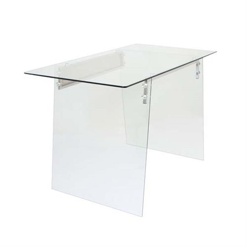 View a large image of the LumiSource Glacier Office Desk Clear Glass OFD-TM-GLACE here.